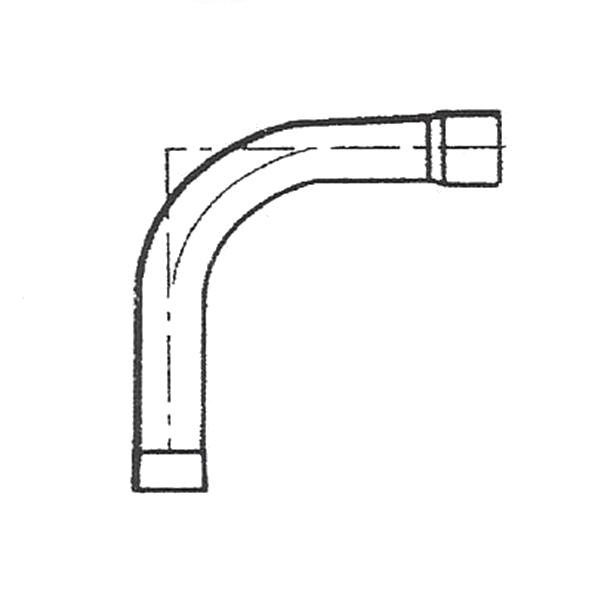 Curva PVC presión manipulada
