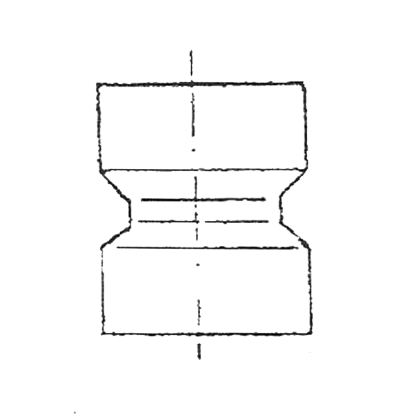 Manguito doble abocardado PVC presión manipulado