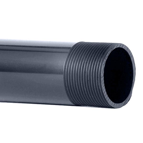 Tubo de presi n de pvc serie roscable tuber as soler - Medidas tubos pvc ...