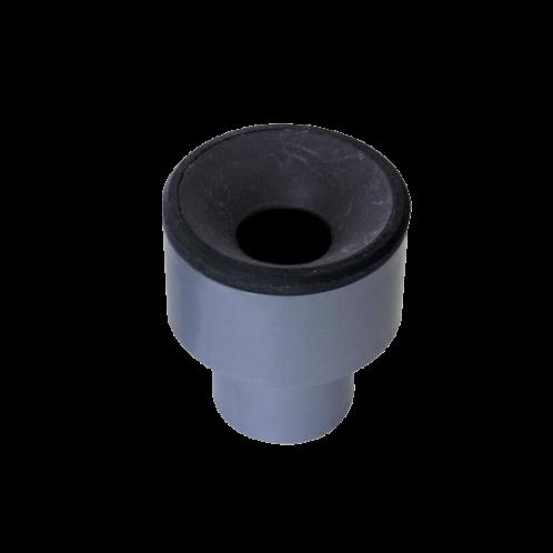 Manguito unión a tubo metálico PVC evacuación